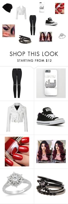 """""""Black, White and Pop!"""" by emo-iz-a-lifesyle ❤ liked on Polyvore featuring 2LUV, Calvin Klein 205W39NYC, Converse, Disney and SCHA"""