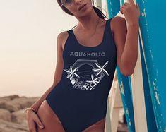 Original artwork on apparel items and wall decor by ZuskaArt Sunset Tattoos, Swimsuits, Bikinis, Swimwear, Palm Trees Beach, Tropical Leaves, One Piece Swimsuit, Bathing, Sunrise