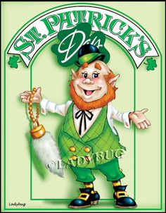 """Lucky""© by Ladybug Creations. He is part of a set of leprechauns painting patterns."