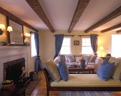 Low Ceiling - how to give an illusion of height - paint beams white