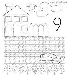 Развитие ребенка - #драйв-мама Preschool Learning Activities, Kindergarten Writing, Preschool Classroom, Teaching Math, Kids Learning, Math Coloring Worksheets, School Worksheets, Math Numbers, Writing Numbers