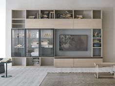 Obtain the catalog and request costs of Unit By gruppo tomasella, modular storage wall esszimmer regal Sectional storage … Tv Unit Bedroom, Living Room Wall Units, Bookshelves In Bedroom, Ikea Living Room, Room Decor Bedroom, Home Interior, Interior Design Living Room, Living Room Designs, Dining Room Shelves