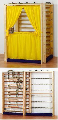 bett mit kletterwand klettern pinterest kletterwand bett und kinderbetten. Black Bedroom Furniture Sets. Home Design Ideas