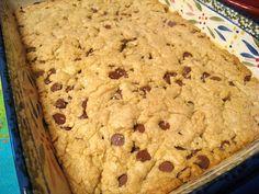 Chocolate Chip Cookie Bars These were yummmmmmy! Will make again tomorrow! Lol :)