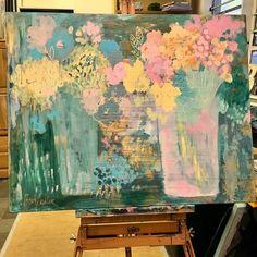 Loving these #colors in my latest #painting #bethnadlerart #art #flowers #intuitivepainting # #color #design #mycreativebiz #dowhatyoulove #mycreativelife #acrylics #currentview #studioart #colorlove #buyartonline #artist #painter #impressionism #contemporaryart #creativeentrepreneur #lovewhatyoudo #walldecor #homedecor #pastelcolors #abstractart #colorcrush #calledtobecreative #femaleentrepreneur #artgallery