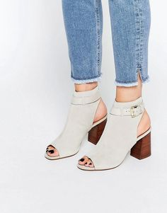 KG Kurt Geiger | KG By Kurt Geiger Ripple Gray Peep Toe Shoe Boots at ASOS