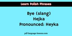say bye in polish