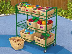 """Outdoor Classroom Cart with Cover  (For taking some """"centers"""" outside)"""
