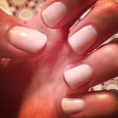 CND Shellac in Romantique -- my wedding color :-)