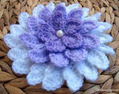 CROCHET FLOWER PATTERN Big Flower Crochet by LyubavaCrochet