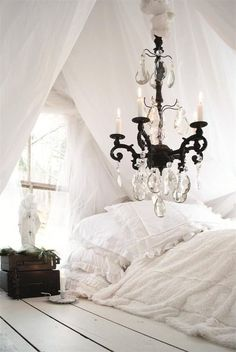 Chandelier...must we say anything more....this would be great in bedroom or bathroom