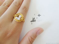 how to make a bird nest ring.