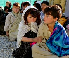 children of afghanistan | Afghan children wait to receive basic medical care and clothing on ...