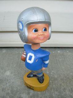 vintage Bobble heads | Vintage 1975 NFL Seattle Seahawks Bobblehead by VintageToyBox