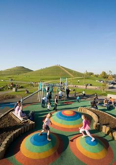 Northala Fields Park by FoRM Associates « Landscape Architecture Works Villa Architecture, Computer Architecture, French Architecture, Architecture Portfolio, Playground Design, Outdoor Playground, Contemporary Landscape, Landscape Design, Kid Spaces