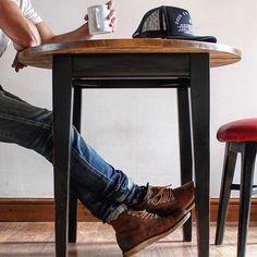 ..morning routine #coffeeandboots.. #redwing9111 . . . #redwingheritage #redwingshoes #boothunter #redwinguniverse #redwingchicago . . #myredwings #redwings #redwingboots #redwingshoes #workboots #boots #bootsanddenim #fadeddenim #denim #selvedgedenim #workwear #rugged #ruggedstyle #ruggedstyleworkwear #style #mensstyle #mensfashion #outfitoftheday #distressed #patina #vintage #industrialfurniture