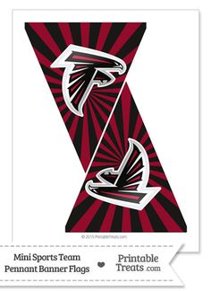 Atlanta Falcons Mini Pennant Banner Flags from PrintableTreats.com