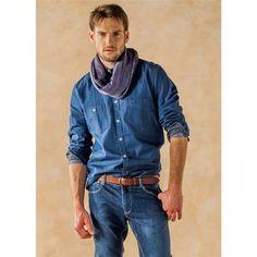 Total look denim para hombre perfecto para otoño #denim #total #look #hombre