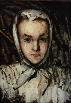 Portrait of Marie Cezanne, the Artist's Sister - Paul Cezanne