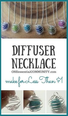 How to Make DIY Diffuser Necklace for Essential Oils from @OneECommunity. Make your own essential oil diffuser necklace for less than $1 each and in less than 1 minute.