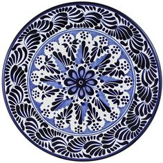 Tomas Huerta TalaveraPlate - Pattern 68 ♥️♣️♣️Talavera Mexican Pottery : More At FOSTERGINGER @ Pinterest ♣️