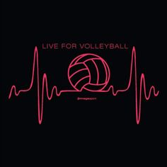 Volleyball Heartbeat Black Volleyball T-Shirt