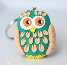 Owl keychain - One of a kind