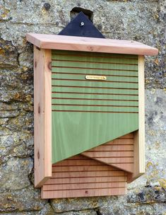 Help pollinators thrive and reduce mosquito populations naturally! Handsome Bat House is handcrafted in the UK of FSC timber (a global forest system certification). Bats will consume thousands of inse Bat House Plans, Bird House Kits, Bat Box Plans, Wood Projects, Woodworking Projects, Insect Hotel, Bird Aviary, Bird Boxes, Garden Boxes