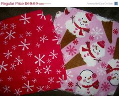 Flannel rag quilt kit fabric Christmas Snowman by ConniesQuiltFabrics, $62.99 #Christmasfabric, #snowmanfabric, #ragquilt, #quiltkit, #quiltsquares, #fabric, #material, #flannelfabric, #quiltfabric, #sewingfabric, #quilting, #sewing