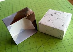 How to make a gift box from old calendar pages. Cool!
