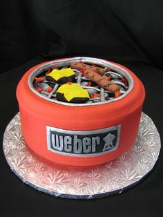 Grill groom's cake www.sublimebakery.com