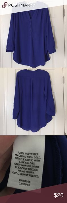 Halogen Royal Blue Blouse Like new. Royal Blue. Sleeves button up. 100% Polyester. Halogen Tops Blouses