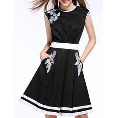 $36.17 Sleeveless Printing A Line Dress