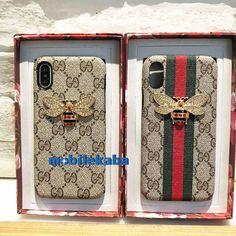 贅沢ブランド風グッチGucciのiPhoneX、iPhone8、iPhone7ケース。ゴージャスのダイヤモンドのミツバチ付きでオシャレ!超薄のジャケット型で手触り心地良いケースだ!