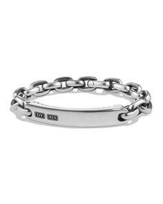 6a48c72a5e8 David Yurman Oval Link Silver ID Bracelet. Bracelet MenBracelets For MenJewelry  BraceletsBanglesCufflinksMenswearDavid ...