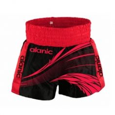 Printed Red and Black Boxing Shorts