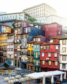 Porto, Portugal 🇵🇹 photo by:  Visit Porto, Visit Portugal, Portugal Travel, Lisbon Portugal, Porto City, Colourful Buildings, Destination Voyage, Travel Destinations, Surfs Up