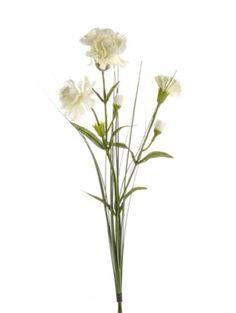 Artificial - Carnation Spray - Ivory