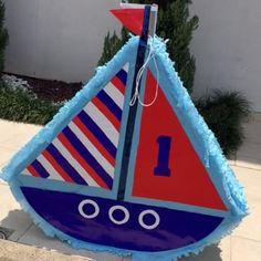 Nautical Birthday Cakes, Anchor Birthday, Birthday Pinata, Leo Birthday, 3rd Birthday Parties, Nautical Mickey, Nautical Party, Baptism Themes, Sailor Theme