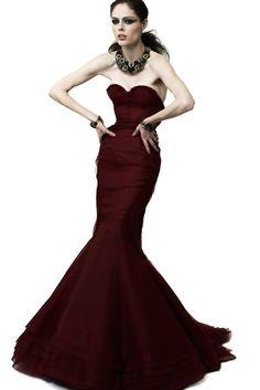 ZAC POSEN-2012 Emerald Silk Taffeta Evening Gown, Size-6