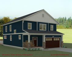 """Preliminary Design rendering of """"Model-One"""" """"Green"""" home project in association with TW Ellis Builders. Model One, Drawing Board, Home Projects, Shed, Outdoor Structures, Green, Design, Lean To Shed, Design Comics"""