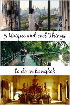 5 Unique & Cool Things to do in Bangkok!  Discover a new side of Bangkok! Tips for unusual, unique and cool things to do in Bangkok. Hidden places, best hotels in Bangkok and memorable experiences in Thailand. Go beyond the traditional tourist attraction in Bangkok and fall in love with the amazing city!::