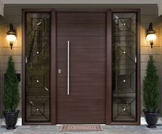 15 Main Entrance Door Design Ideas - The Wonder Cottage Modern Entrance Door, Main Entrance Door Design, Wooden Main Door Design, Modern Exterior Doors, Design Exterior, Modern Front Door, House Front Door, House Doors, Entrance Doors