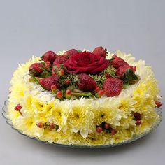 Gâteau floreale #food #cibo #edibleflowers: