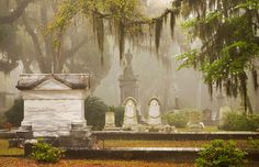 Bonaventure Cemetery, SavannahJust about every spot in this sultry Southern city, which claims to be one of America's most haunted, has a ghost story, but these Spanish-moss-shrouded burial grounds on the banks of the Savannah River can nearly out-spook them all. The most famous of the fascinating gravestones is that of Little Gracie Watson, who died in 1889, at age 6, of pneumonia. Sculpted from a photo taken shortly before her death, her gravestone is the stuff of nightmares.
