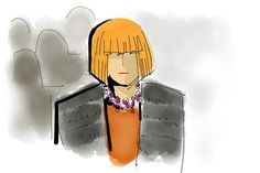 I love this illustration of Anna Wintour front row at Proenza Schouler from The Drawing Room: New York Fashion Week in Sketches via @wwd