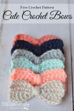 Crochet+Bow+Ties+Free+Pattern
