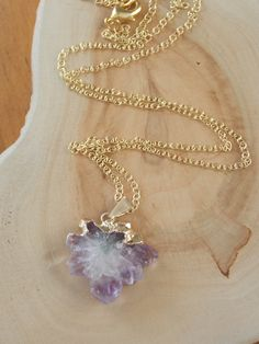 Amethyst Stalactite Necklace purple amethyst by MalieCreations