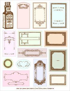 apothecary labels Free Wedding Printables for Your DIY Wedding Printable Crafts, Printable Labels, Free Printables, Labels Free, Free Label Templates, Diy Papier, Bottle Labels, Jar Labels, Blank Labels