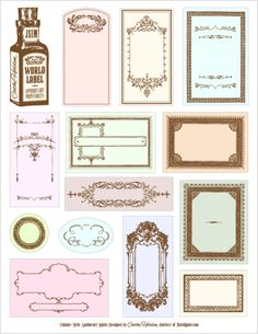 Free customizable vintage labels.